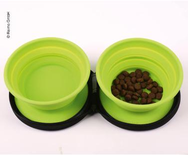 CIOTOLA DOPPIA IN SILICONE - DOG BOWL TWIN