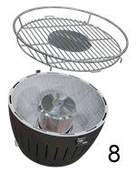 KIT BBQ LOTUSGRILL BLU + CARBONELLA FAGGIO 1 KG + GEL COMBUSTIBILE 200ML